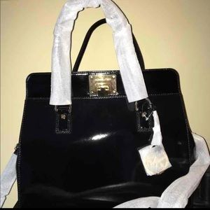Astrid Michael Kors Patent Leather Satchel